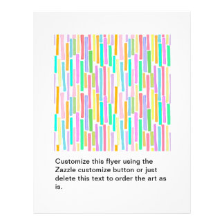 Bright colorful mini stripes fun pattern painting 21.5 cm x 28 cm flyer