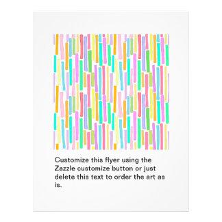 Bright colorful mini stripes fun pattern painting 21.5 cm x 28 cm flyer