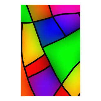 BRIGHT COLORFUL MODERN ART 112 FUN BACKGROUNDS TEM CUSTOMISED STATIONERY