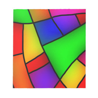 BRIGHT COLORFUL MODERN ART 112 FUN BACKGROUNDS TEM NOTEPAD