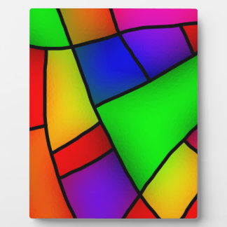 BRIGHT COLORFUL MODERN ART 112 FUN BACKGROUNDS TEM PLAQUE