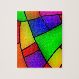 BRIGHT COLORFUL MODERN ART 112 FUN BACKGROUNDS TEM PUZZLE