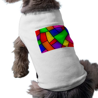 BRIGHT COLORFUL MODERN ART 112 FUN BACKGROUNDS TEM SLEEVELESS DOG SHIRT