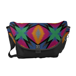 Bright Colorful Mosaic Pattern Courier Bag