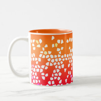 Bright Colorful Mosaic Pattern Cup in Orange