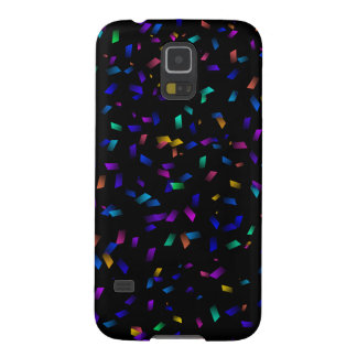 Bright colorful neon confetti on dark galaxy s5 cases