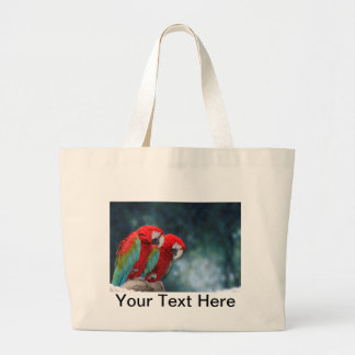 Bright Colorful Parrots Wildlife Nature Customized Large Tote Bag