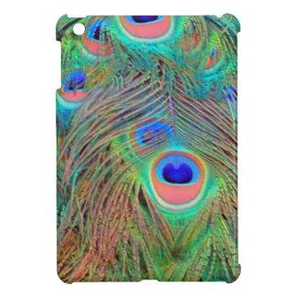 Bright Colorful Peacock Feathers iPad Mini Case