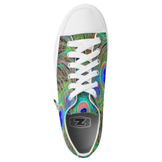 Bright Colorful Peacock Feathers Printed Shoes