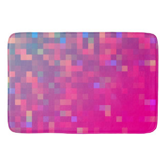 Bright & Colorful Pixel Pattern Bath Mat