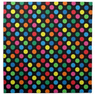 Bright Colorful Polka Dots Cloth Napkin