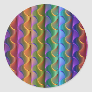 Bright Colorful Psychedelic Pattern Classic Round Sticker