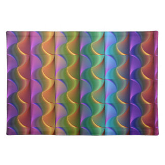 Bright Colorful Psychedelic Pattern Placemat