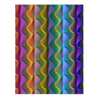 Bright Colorful Psychedelic Pattern Postcard