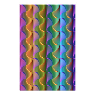 Bright Colorful Psychedelic Pattern Stationery