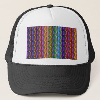 Bright Colorful Psychedelic Pattern Trucker Hat