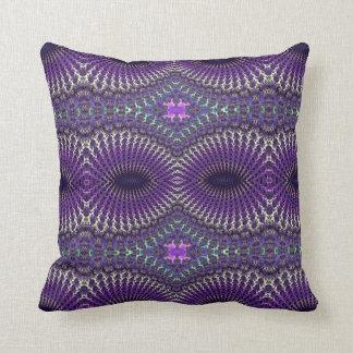 Bright Colorful Purple Silver Fractal Eye Mask Cushion