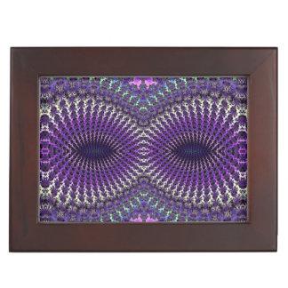 Bright Colorful Purple Silver Fractal Eye Mask Memory Box