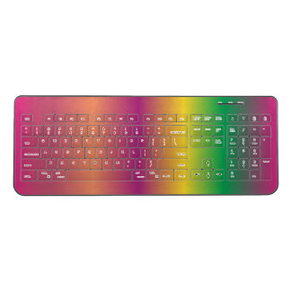 Bright Colorful Rainbow Multicolored Wireless Keyboard