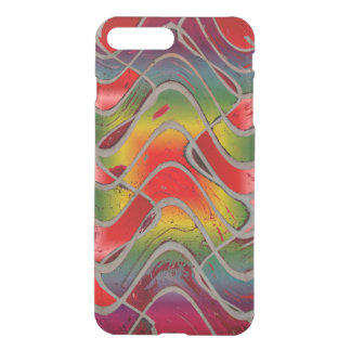 Bright Colorful Red Yellow Abstract iPhone 7 Plus Case