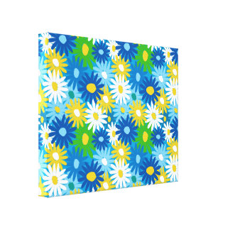 Bright colorful spring daisies wall art