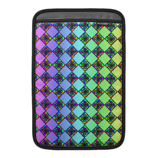 Bright Colorful Stained Glass Style Pattern. MacBook Air Sleeves