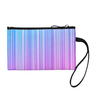 Bright Colorful Striped Pattern Coin Purse