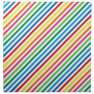 Bright Colorful Stripes Printed Napkins