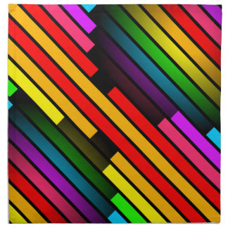 Bright Colorful Stripy Teen Boys Mens 3D Pattern Printed Napkin