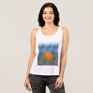 Bright Colorful Sunset Racer Back Tank