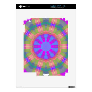 Bright Colorful trendy pattern Skin For iPad 2