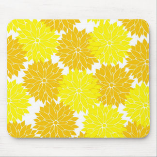 Bright Colorful Yellow Flower Blossoms Floral Mouse Pad