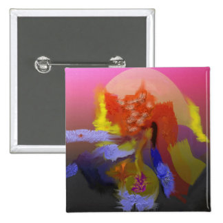 Bright Colors Abstract 15 Cm Square Badge