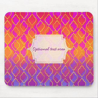 Bright Colors Arabian Moroccan Glam Indian Theme Mouse Pad