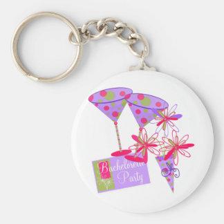 Bright Colors Bachelorette Party Key Ring