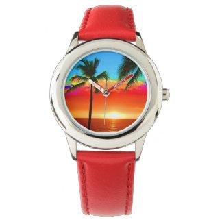 Bright Colors Beach Palm Tree Watch
