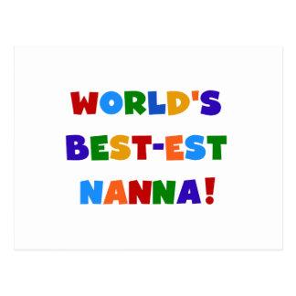 Bright Colors Best-est Nanna Tshirts Postcard