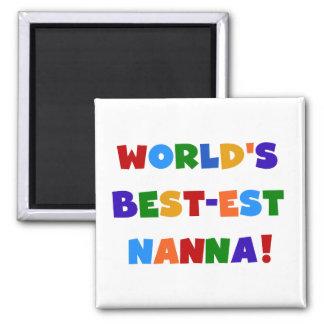 Bright Colors Best-est Nanna Tshirts Square Magnet