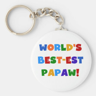 Bright Colors Best-est Papaw Tshirts and Gifts Key Ring