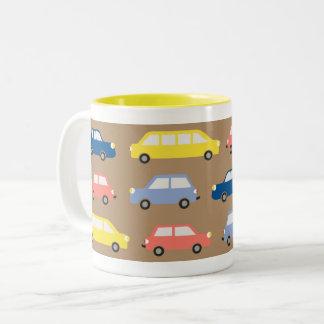 Bright Colors Cars, Traffic Jam Mug