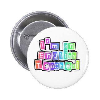 Bright Colors English Teacher 6 Cm Round Badge