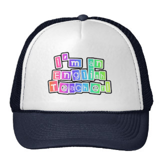 Bright Colors English Teacher Tshirts and Gifts Cap