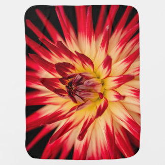 Bright colors flower floral baby blanket