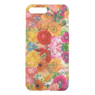 Bright Colors Flowers Explosion Floral Collage iPhone 7 Plus Case