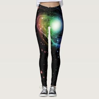Bright Colors Galaxy Leggings