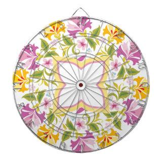 Bright Colors Mandala Custom Dartboard With Darts