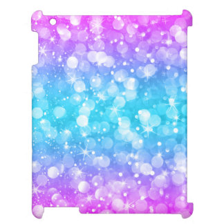 Bright Colors Modern Bokeh Glitter Cover For The iPad