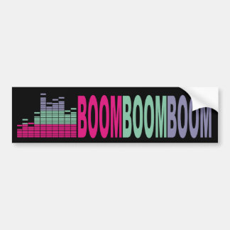 Bright colors music bass sound 80s rock on audio car bumper sticker