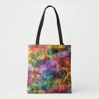 Bright Colors Random Swirls Tote Bag
