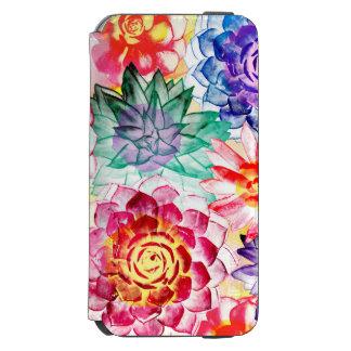 Bright Colors Succulent Plants Artsy Watercolor Incipio Watson™ iPhone 6 Wallet Case